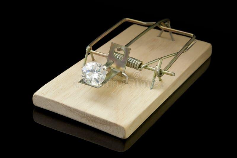 entrapment диаманта стоковое изображение rf