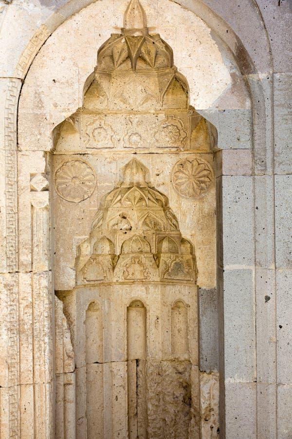Entrata al caravansary di Sultanhani sulla via della seta immagine stock