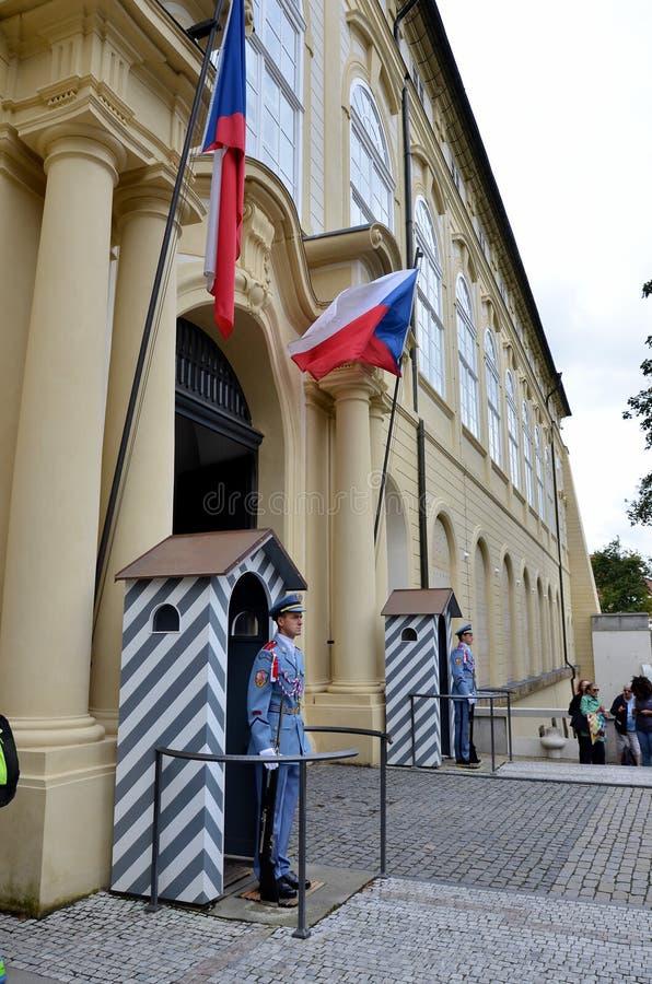 Entrata al castello di Praga fotografia stock