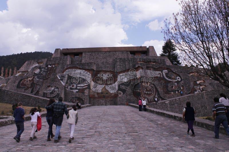 Entrata al Centro Ceremonial Otomi in Estado de Mexico, Front View fotografia stock