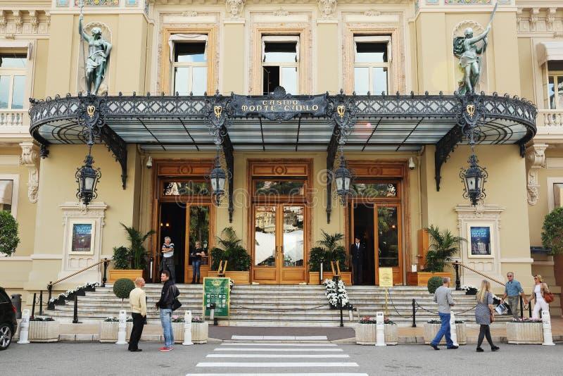 Entrata al grande casinò a Monte Carlo, Monaco immagini stock libere da diritti