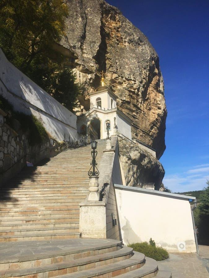 Entrata al monastero della caverna di Bakhchisaray fotografia stock