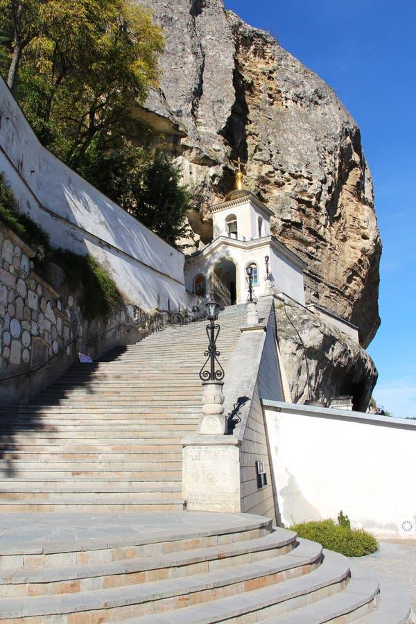 Entrata al monastero della caverna di Bakhchisaray immagini stock