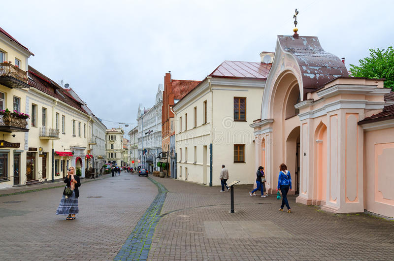 Entrata al monastero di Spirito Santo, Vilnius, Lituania immagini stock