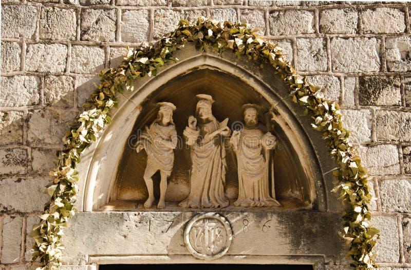 Entrata al monastero domenicano, Ragusa, Croazia immagini stock