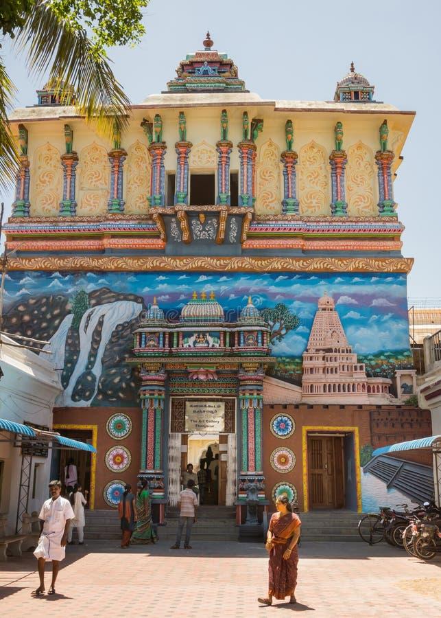Entrata al palazzo di Thanjavur immagini stock