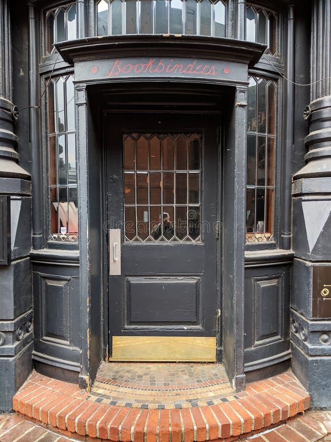 Entrata al ristorante Filadelfia del Olde Antivari del rilegatore immagine stock