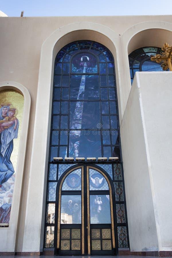 Entrata alla cattedrale fotografie stock