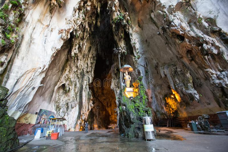 Entrata alla caverna di Batu, Kuala Lumpur, Malesia fotografie stock libere da diritti