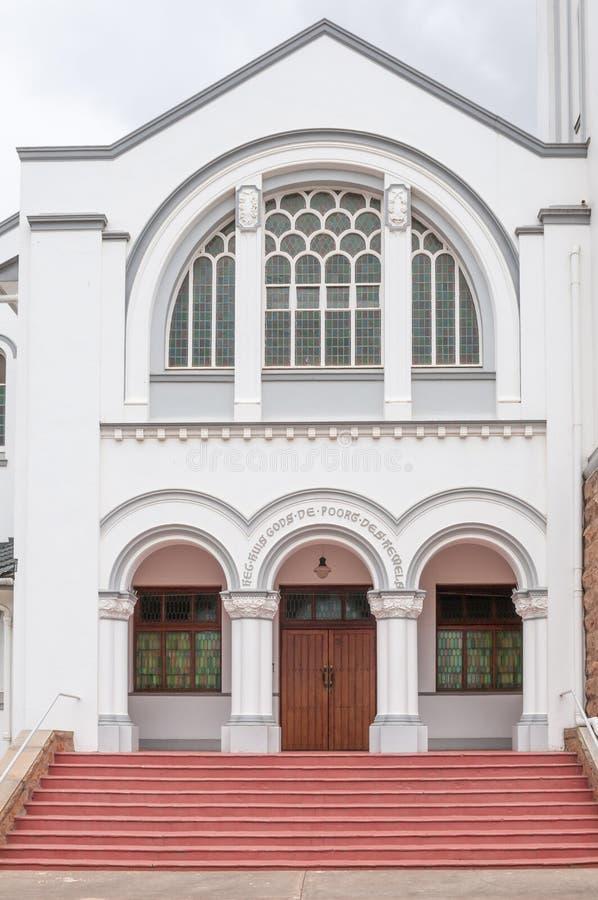 Entrata alla chiesa riformata olandese, Riversdale fotografie stock