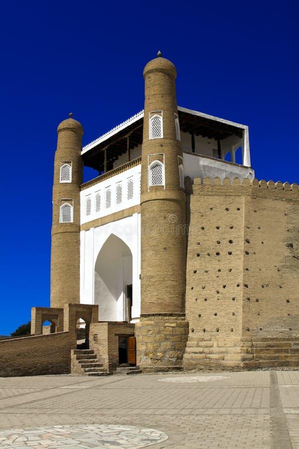 Entrata alla fortezza dell'arca, Buchara fotografia stock libera da diritti