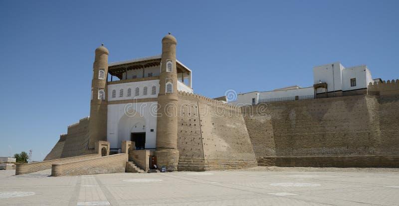 Entrata alla fortezza dell'arca, Buchara fotografia stock