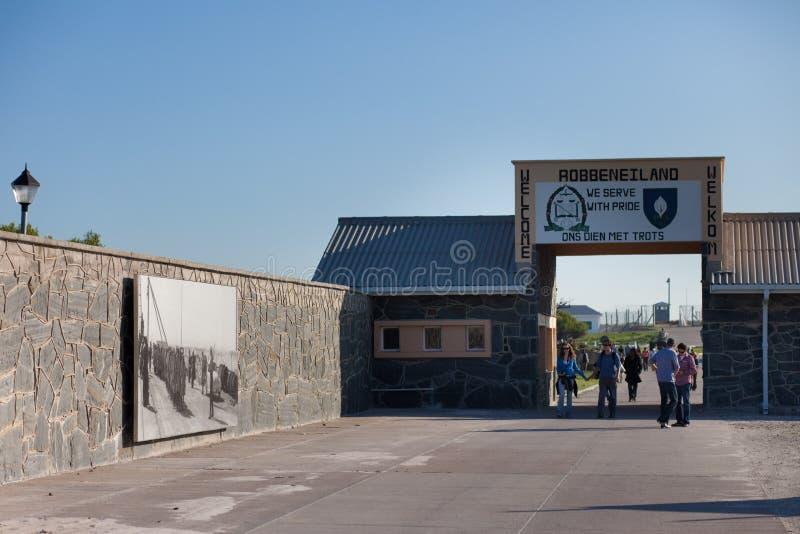 Entrata alla prigione dell'isola di Robben fotografia stock