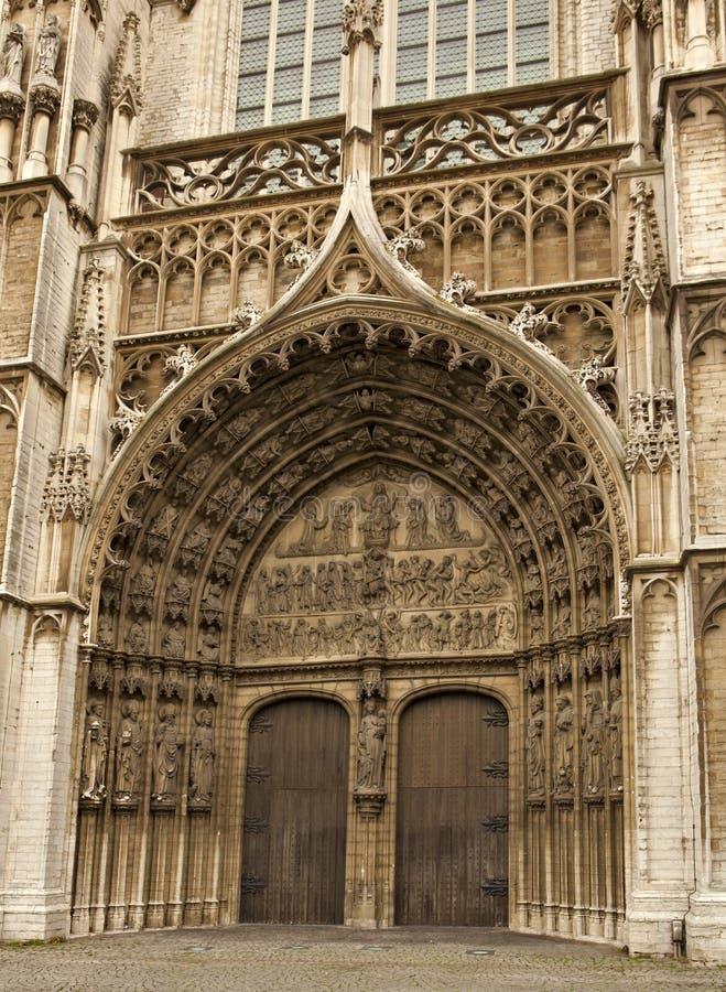 Entrata Anversa della cattedrale immagine stock libera da diritti