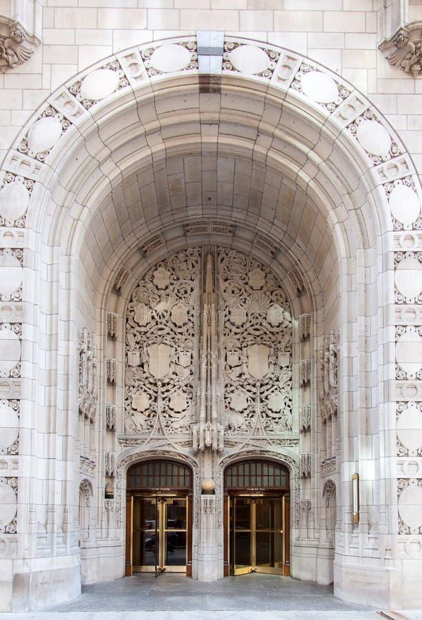 Entrata Chicago della torretta della tribuna immagine stock libera da diritti