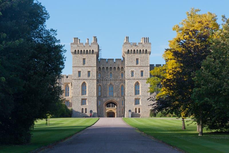 Entrata da Windsor, grande parco, Berkshire, Inghilterra, Regno Unito di Windsor Castle fotografia stock libera da diritti