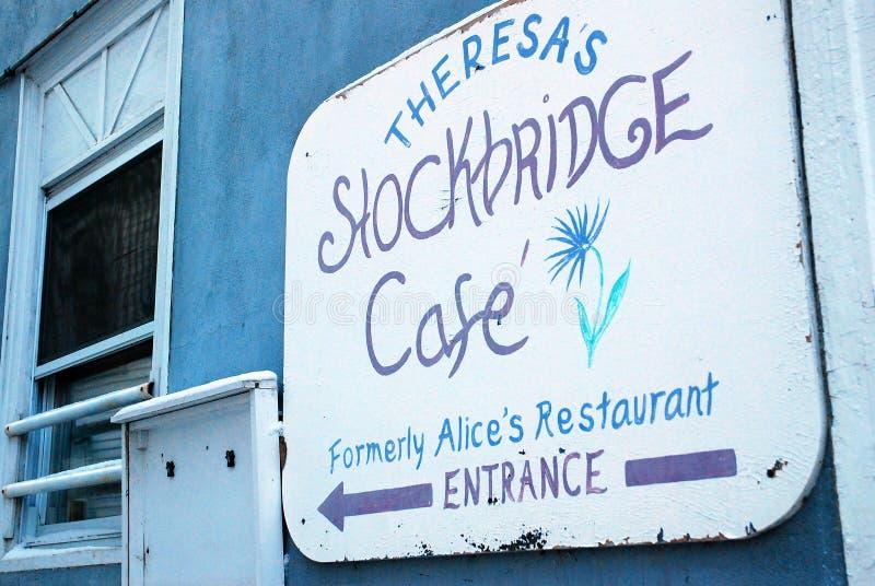 Entrata del caffè di Stockbridge immagini stock libere da diritti