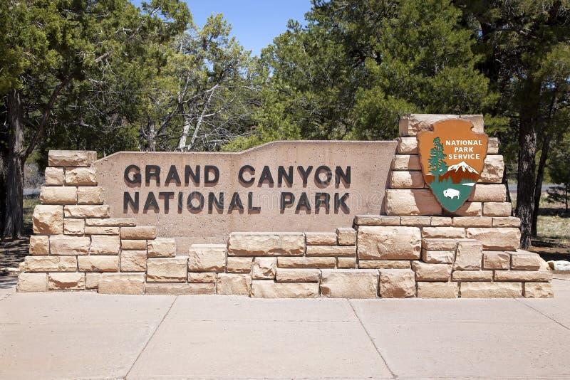 Entrata del grande canyon fotografia stock libera da diritti