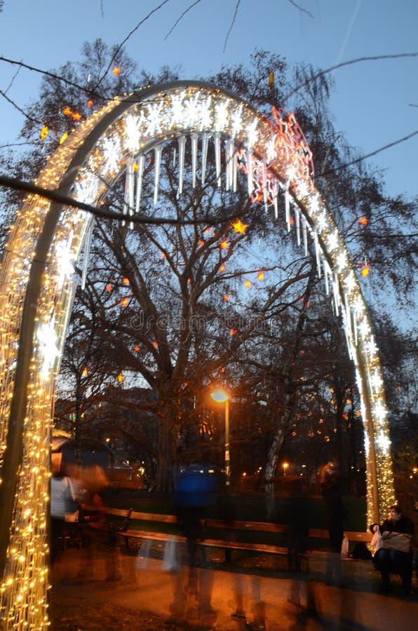Entrata del mercato di Natale, Vienna immagine stock libera da diritti