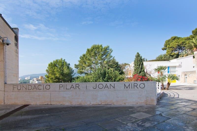 Entrata del museo di Miro fotografia stock libera da diritti