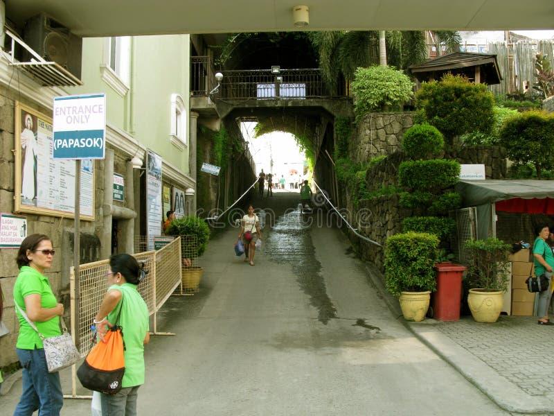 Entrata del portone, santuario nazionale di pietà divina in Marilao, Bulacan fotografie stock