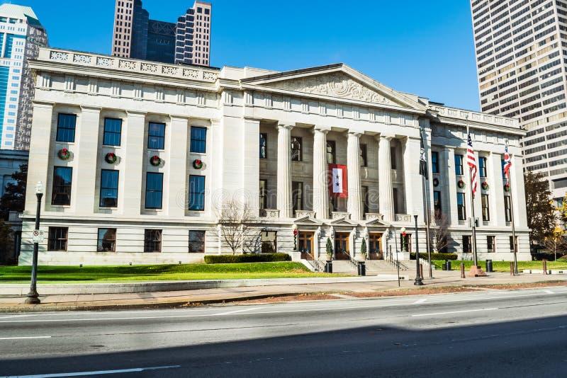 Entrata del senato dello Statehouse dell'Ohio fotografie stock