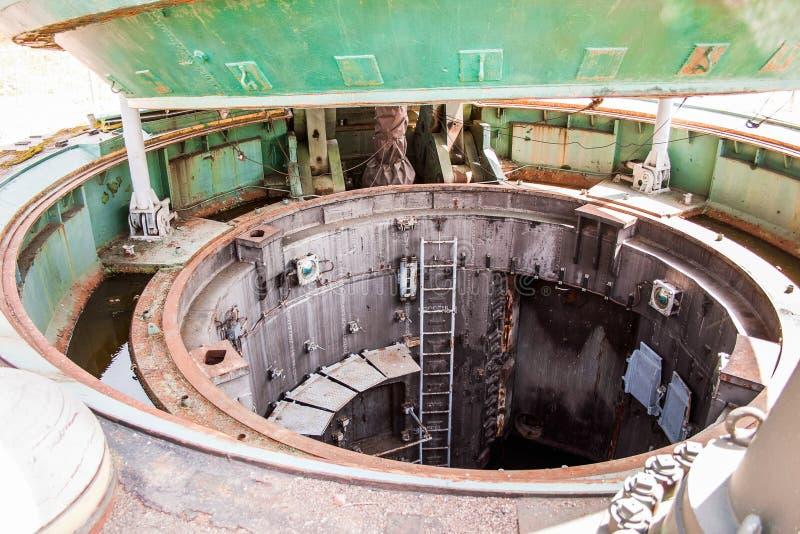 Entrata del silo sotterraneo fotografia stock libera da diritti