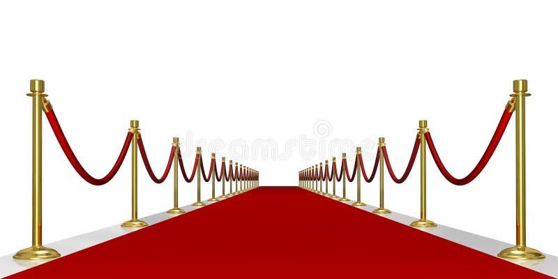 Entrata del tappeto rosso immagine stock