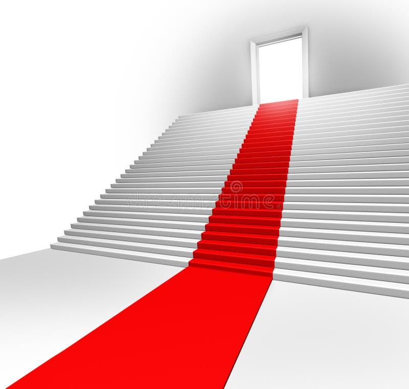 Entrata del tappeto rosso illustrazione vettoriale