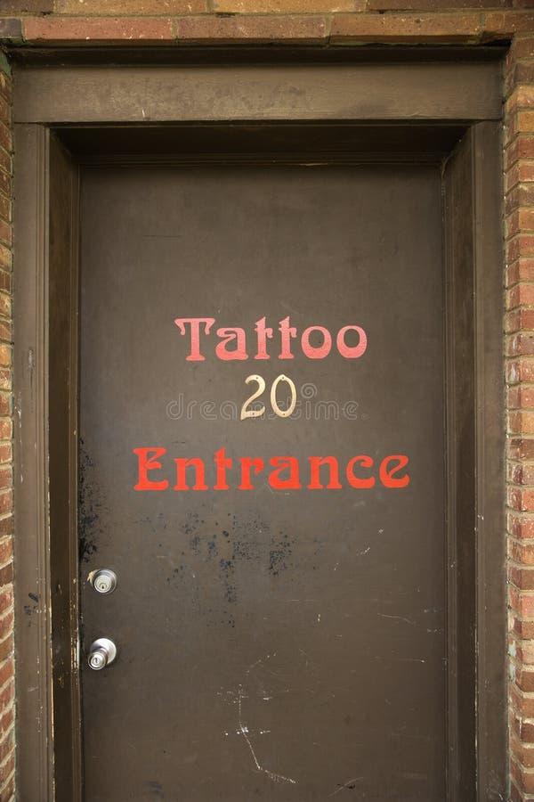 Entrata del tatuaggio. fotografia stock