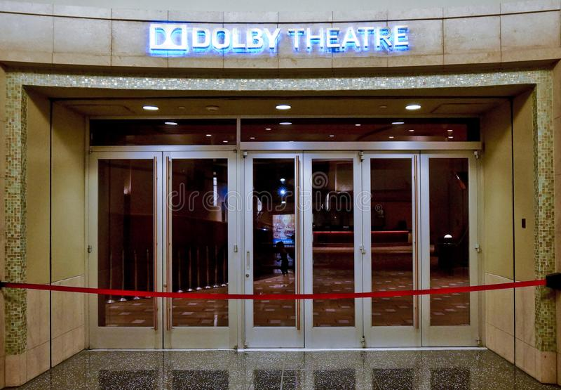 Entrata del teatro di Dolby a hollywood fotografia stock