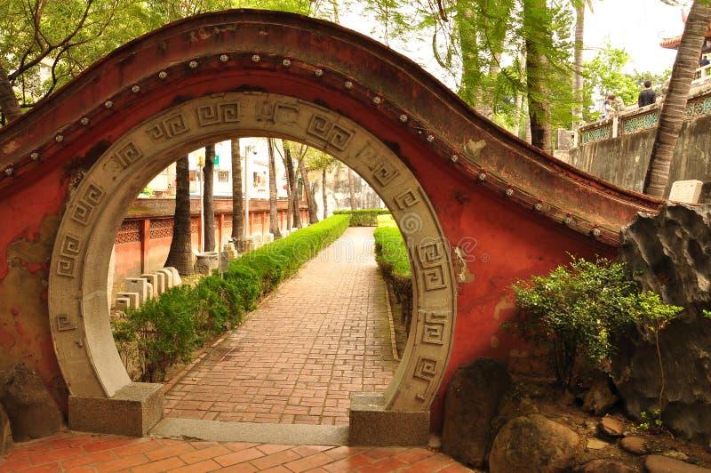 Entrata del tempio di Chihkan. Tainan, Taiwan fotografia stock