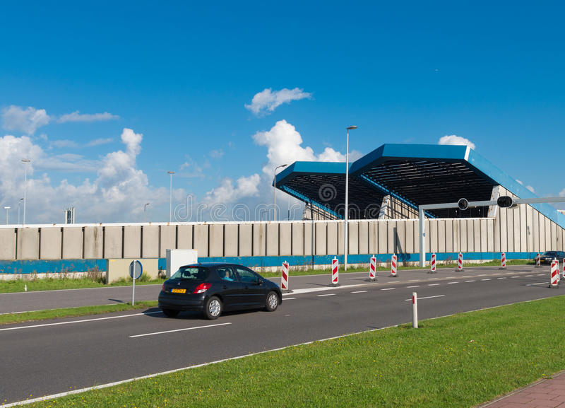 Entrata del tunnel di Schiphol immagini stock