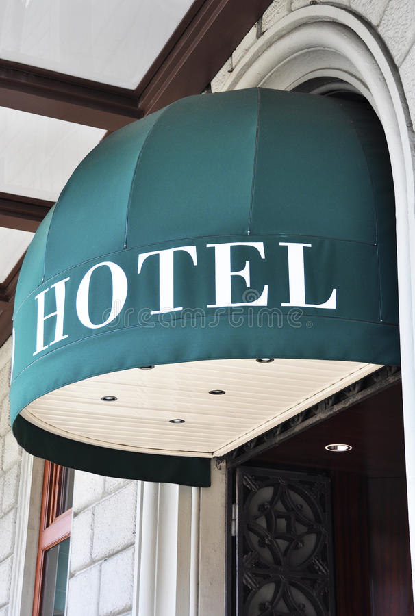 Entrata dell'hotel fotografia stock libera da diritti