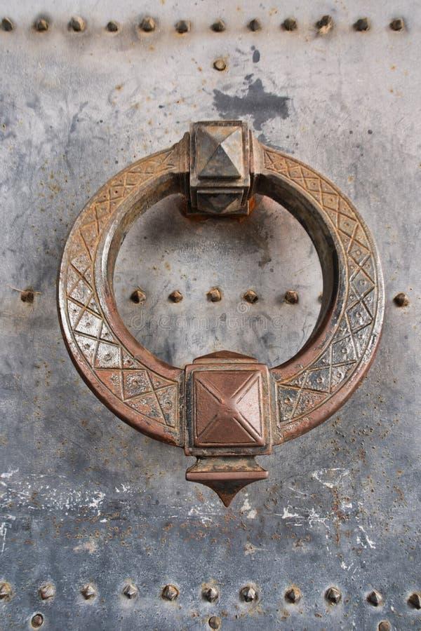 Entrata della maniglia della porta da fortificare dell'angelo santo a Roma, Italia fotografia stock