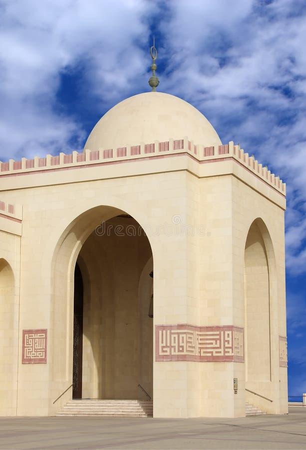 Entrata della moschea di Fateh di Al in Bahrain fotografia stock