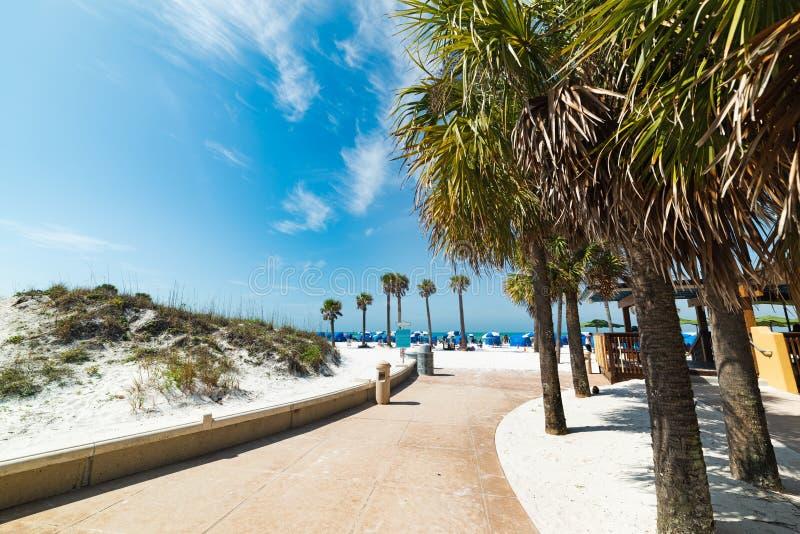Entrata della spiaggia in Clearwater fotografia stock libera da diritti