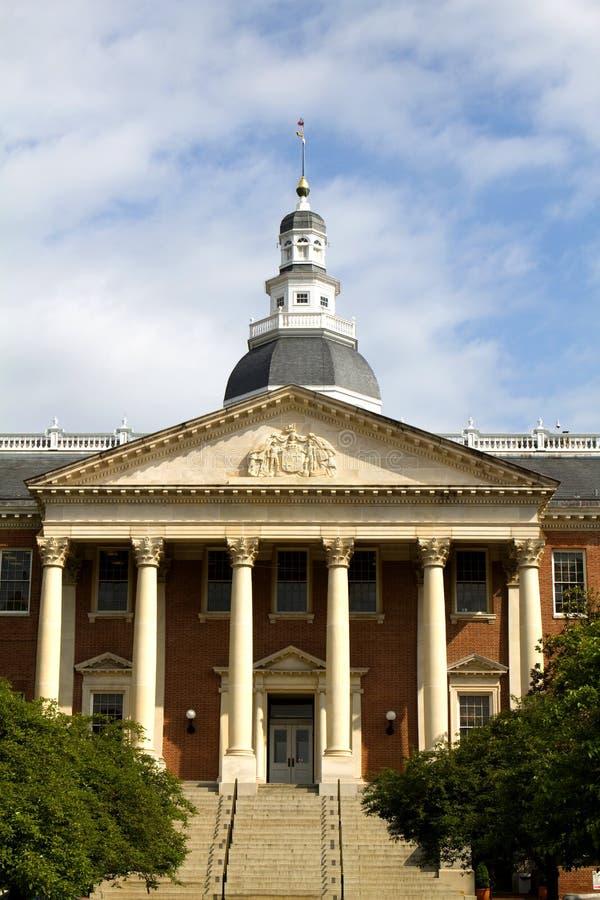 Entrata di Campidoglio della condizione del Maryland fotografia stock libera da diritti