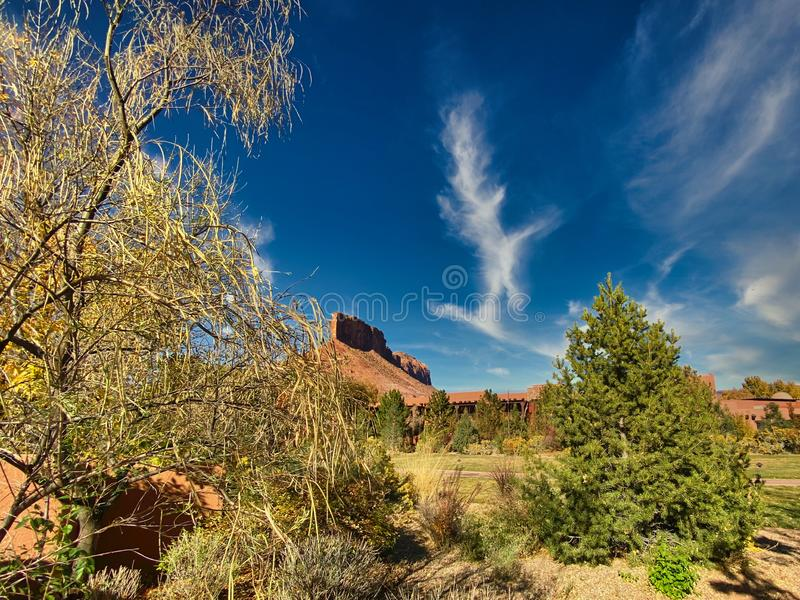 Entrata di Gateway Canyons in ottobre immagini stock