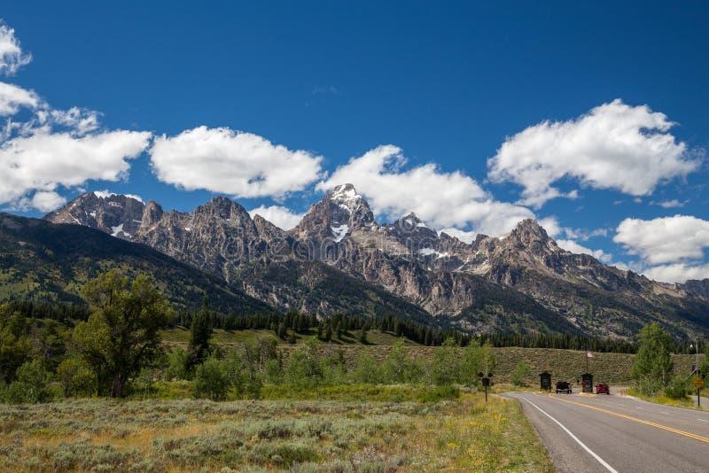 Entrata di grande parco nazionale di Teton, Wyoming, U.S.A. immagine stock libera da diritti