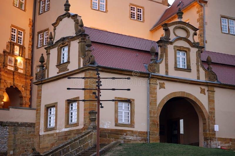Entrata di Schloss Kapfenburg immagine stock libera da diritti