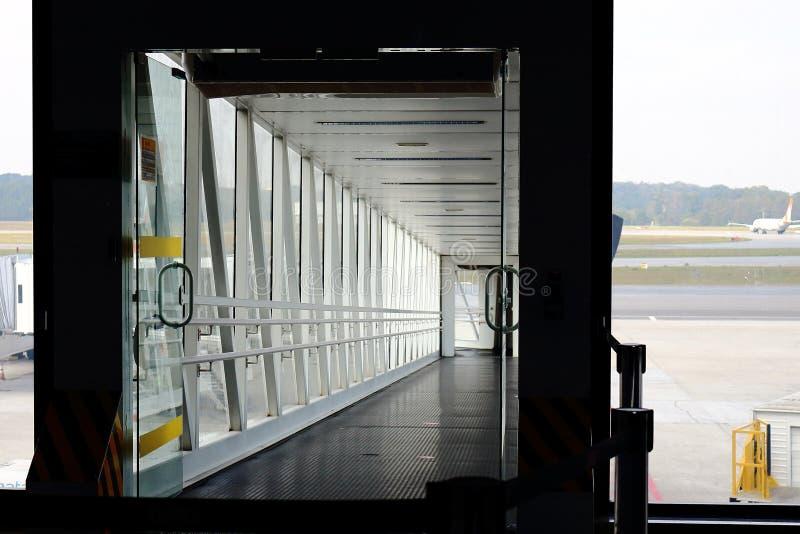 Entrata di un modo del getto, ponte dell'aria, molo dell'aria fotografie stock libere da diritti
