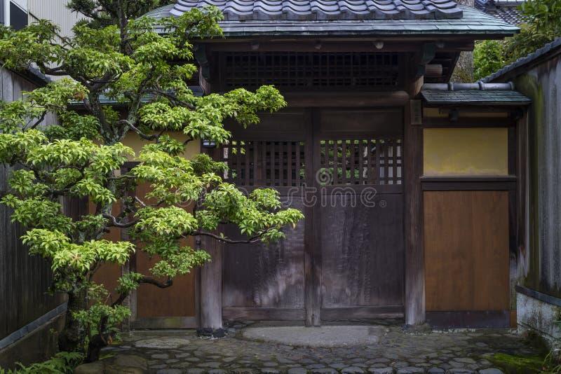 Entrata di una casa del samurai in Nagamachi fotografia stock libera da diritti