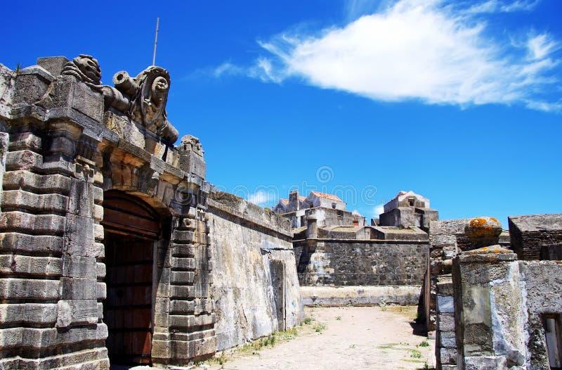 Entrata di vecchia fortificazione militare, Elvas fotografia stock