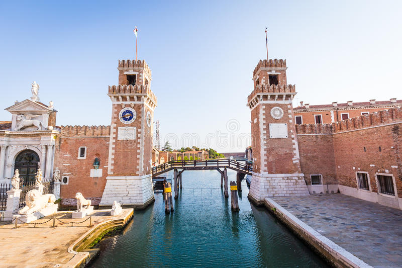 entrata di venezia arsenale fotografia stock immagine di
