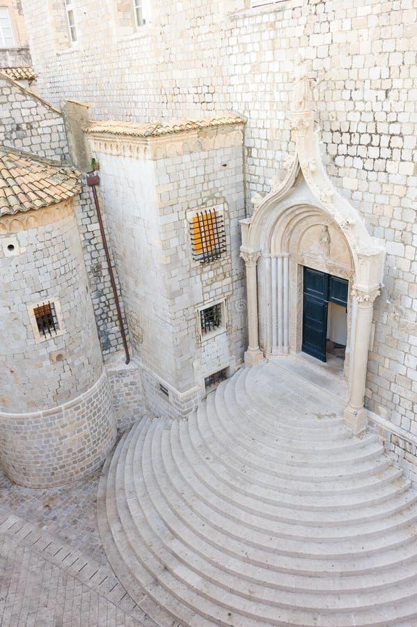 Entrata domenicana del monastero di Ragusa fotografia stock