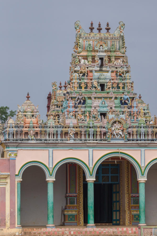 Entrata e Vimanam di Kothamangalam Shiva Temple fotografia stock
