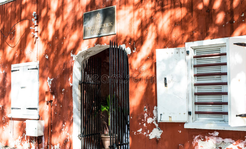 Entrata a Frederik forte - St Croix immagine stock libera da diritti