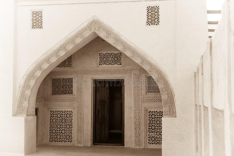 Entrata incurvata Arabo tradizionale fotografia stock libera da diritti