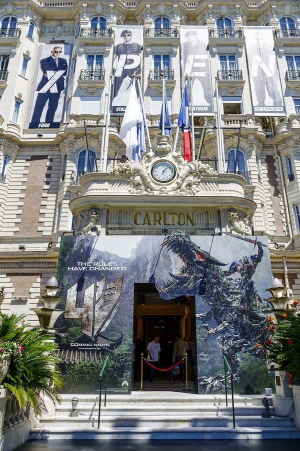 Entrata intercontinentale di Carlton Cannes Hotel fotografia stock libera da diritti
